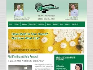 A1 Mold Testing new web design