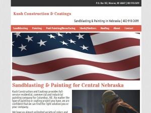 Kush Construction & Coatings new web design