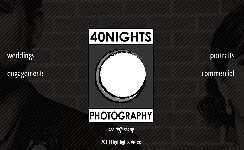 40 Nights Creative new web design